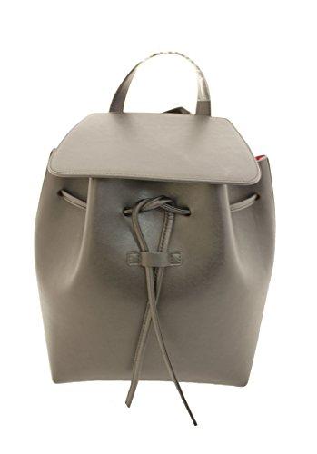 Generic Bucket Backpack Bag (Large, Black(red interior))