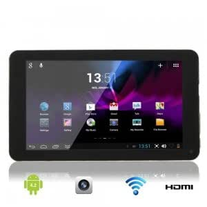 """7"""" Capacitive Touch Screen V8880 Dual-Core 1.5GHz Android 4.2 4GB Tablet PC Black & Golden"""