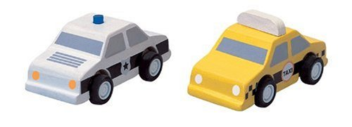PlanToys Plan City  Taxi  and  Police Car (Plan City Car)