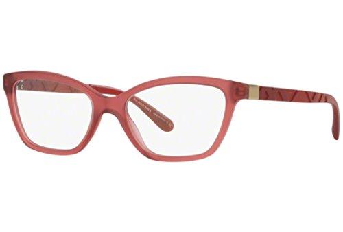BURBERRY Eyeglasses BE 2221 3576 Matte Red - Red Eyeglasses Burberry