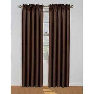 Eclipse Samara Blackout Energy-efficient Curtain Panel, Assorted Sizes and Colors (Espresso, 42 in. W X 63 in. (Eclipse 42x63)