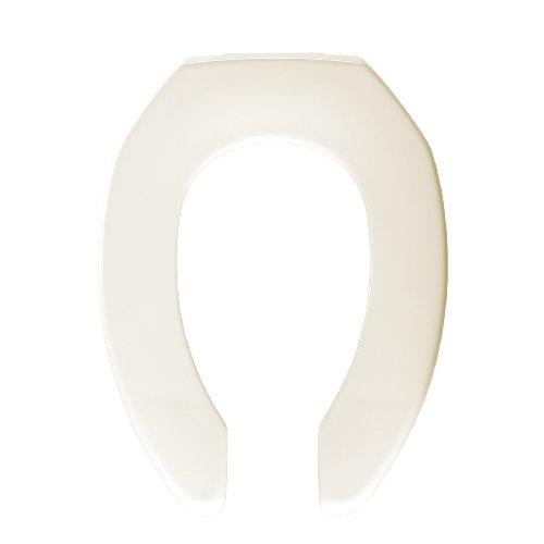 Bemis 1955C006 Plastic Open Front Less Cover Elongated Toilet Seat, - Faucet Bone