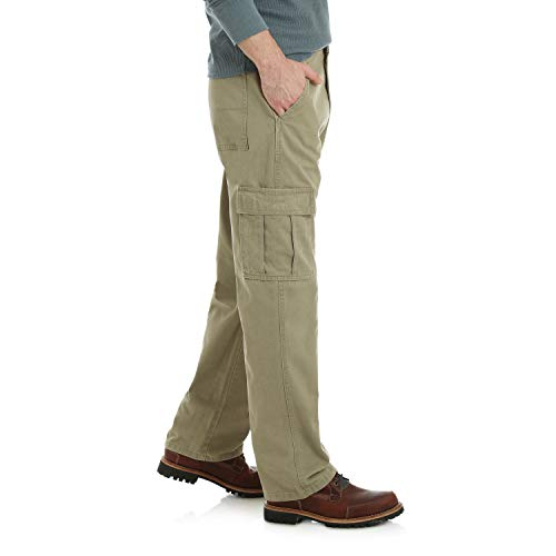 Wrangler Men's Authentics Classic Cargo Pant, British Khaki Twill, 36W x 32L by Wrangler (Image #3)