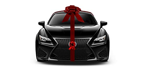 Nicky Bigs Novelties Giant Metallic Red Car Bow Ribbon New Car Gift Wrap Kit Decoration Christmas Set ()