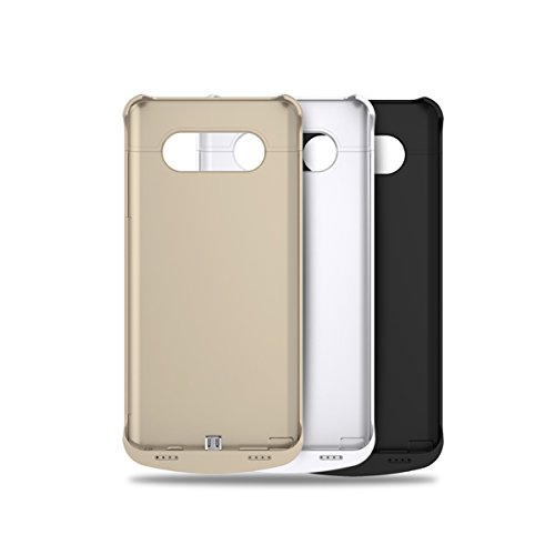 ALCLAP Galaxy Note 5 Battery Case4200mAh Extended moveable Backup Battery Charging Cover scenario Rechargeable vitality Bank for Samsung Galaxy Note5 Gold Charger Cases