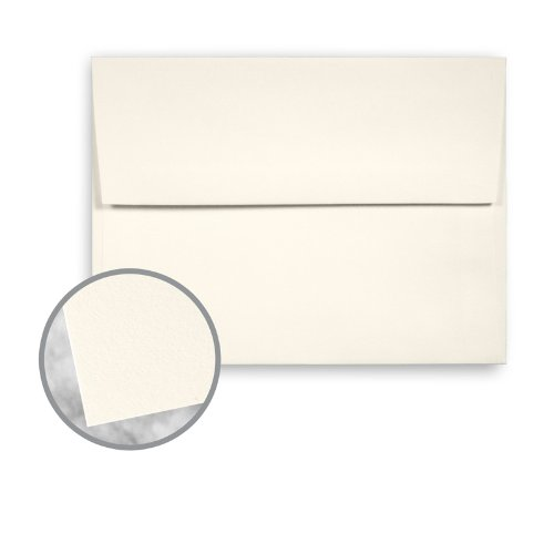 CRANE'S CREST Natural White Envelopes - A7 (5 1/4 x 7 1/4) 28 lb Writing Wove 100% Cotton Watermarked 250 per Box by Neenah
