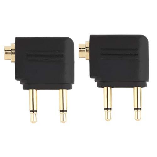3.5mm Jack Audio Adapter for Airplane Travel Earphone Headphone - Phone Jack Prong 4