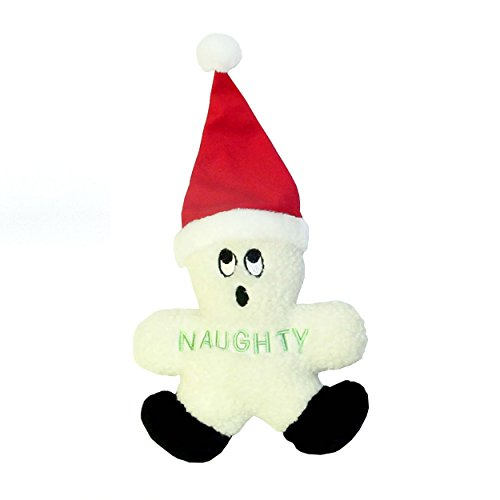 Outward Hound Kyjen  PP01854 Naughty and Nice Snowman Dog Toys Duravle Plush Holiday Pet Accessory, Small, White
