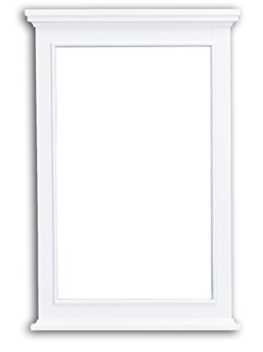 Eviva EVMR709-24WH Elite Stamford White Full Framed Bathroom Vanity Mirror Combination by Eviva