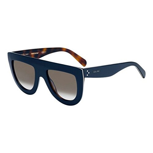 Beige Havana Sunglasses - Celine 41398/S 273 Blue/Beige/Havana Andrea Aviator Sunglasses Lens Category 3