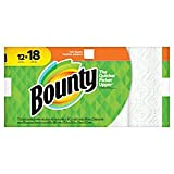 Bounty 2-Ply Paper Towels, 11in. x 10 1/4in, White, Pack of 12 Giant Rolls