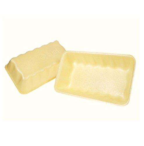 Yellow Foam Meat Tray - CKF 10KY, 10K Yellow Foam Meat Trays, Disposable Standard Supermarket Meat Poultry Frozen Food Trays, 100-Piece Bundle