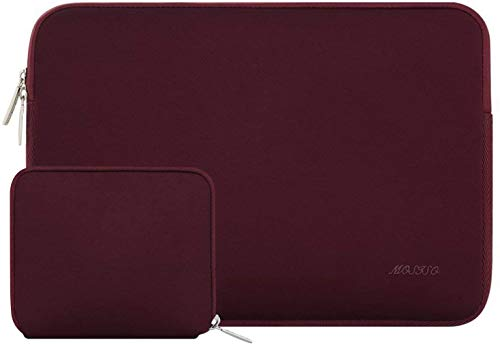 MOSISO MOSISO Laptop Sleeve Only Compatible 13 Inch New MacBook Pro Touch Bar A1989 & A1706 & A1708 2018 2017 2016, Surface Pro 5, Dell XPS 13, Water Repellent Lycra Tablet Bag with Small Case, Wine R