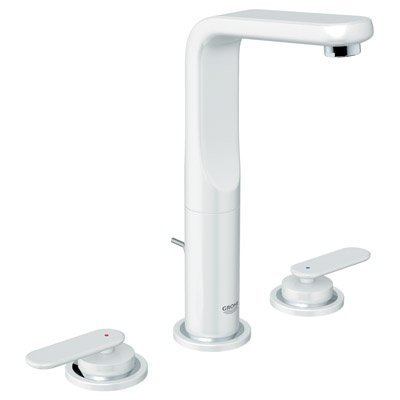 (Grohe 20182LS0 Veris Wideset Lavatory Faucet, White)