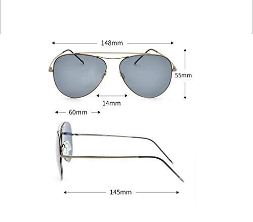 Gafas Sol para Diseño Lente De con Hombre Retro para Mujer Antirreflejante B Moda UV400 De Aili Y B Completo YFIHYq