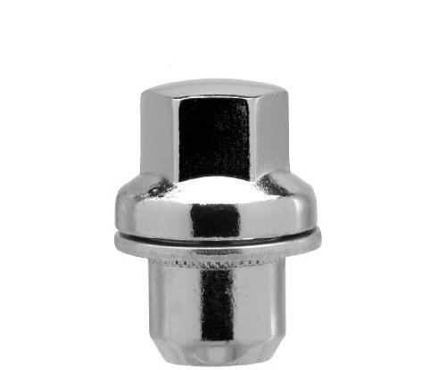 White Knight 5309RR-4 Chrome Lug Nut with Washer for Range Rover - 4 Piece by White Knight