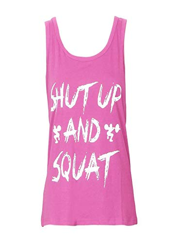EOWEO Anniversary celebration T-Shirt Tops Vest Women Workout Tank Top T-Shirt - Gym Clothes Fitness Yoga Lift (Large,Pink)