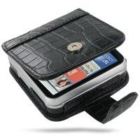 PDAIR FX1 Black Crocodile Leather Case for Motorola FLIPO...