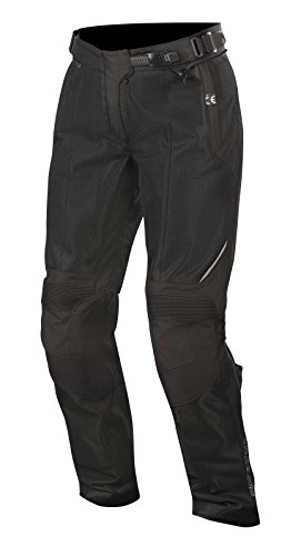Air Textile Pants (Stella Wake Air Textile Street Motorcycle Over Pants (S, Black Black))