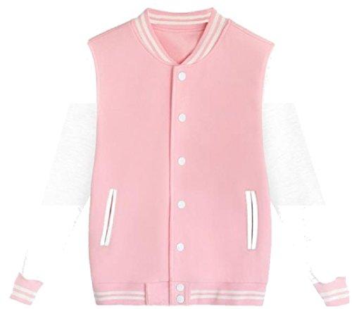 Facile Assortiti Collegio Trasporti Tasche Patta Mogogomen Colori Rosa Giacca Con 1qT7nxdv