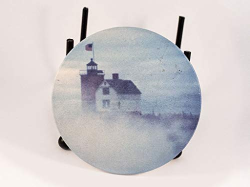 - Coaster, Sandstone, Round Island Lighthouse Design, Photograph