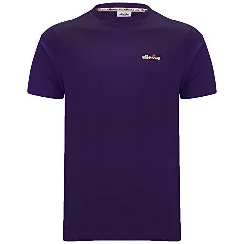 ellesse Mens Court Crewneck Cotton T-Shirt Purple L