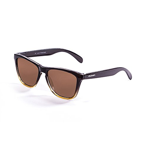 Ocean Color Marrón Marrón de Sea Sunglasses Marrón Sol Unisex Amarillo Gafas Talla única degradado PYOYrxwZ