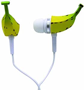 iHip IP-WACK-BAN Wacky Ear Buds - Banana Yellow/White (Discontinued by Manufacturer)