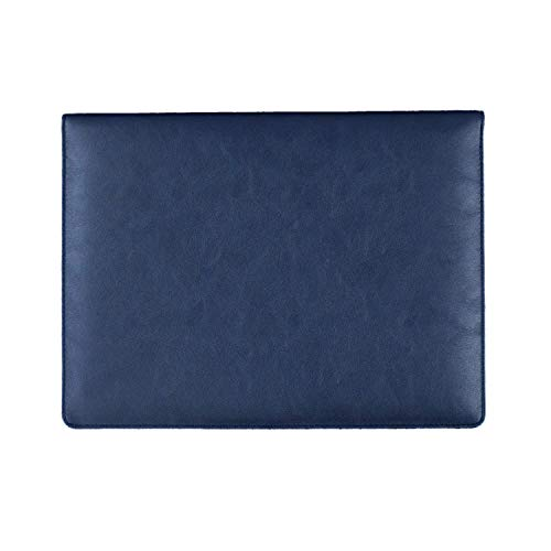 Faux Leather Notebook Carrying Case Sleeve for Dell XPS 13 / Lenovo Yoga C630 / Acer Chromebook 13 (2018) / Apple MacBook Pro/Air 13 in(2018) / HP Envy 13t / HP Spectre Folio 13 Laptop (Blue)
