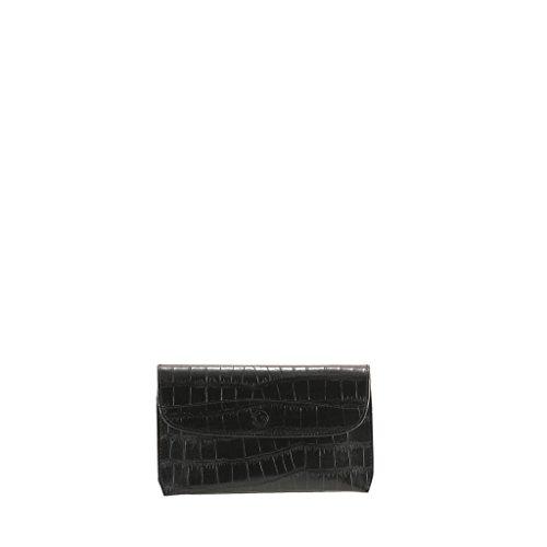 Women Black Bag Evening Netta GION effect Croc Leather COqBpCv