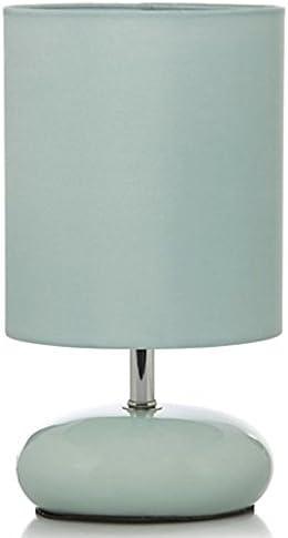Duck Egg Blue Retro Style Pebble Table Lamp: Amazon.co.uk