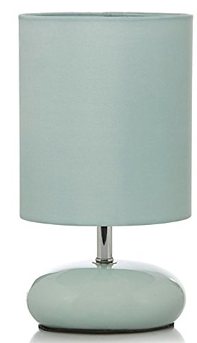 Duck Egg Blue Retro Style Pebble Table Lamp: Amazon.co.uk
