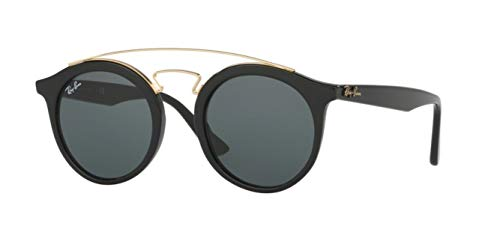 - Ray-Ban New Gatsby I Round Sunglasses, Black, 49 mm