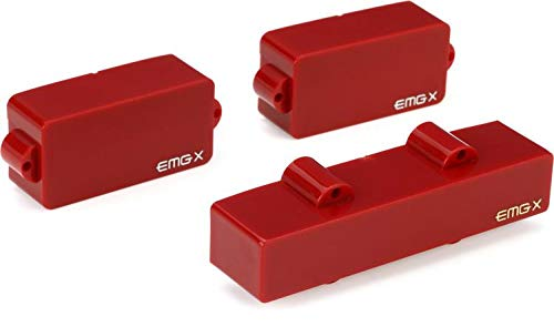 EMG FB X Series Frank Bello Signature Active Bass Guitar Pickup Set, Red