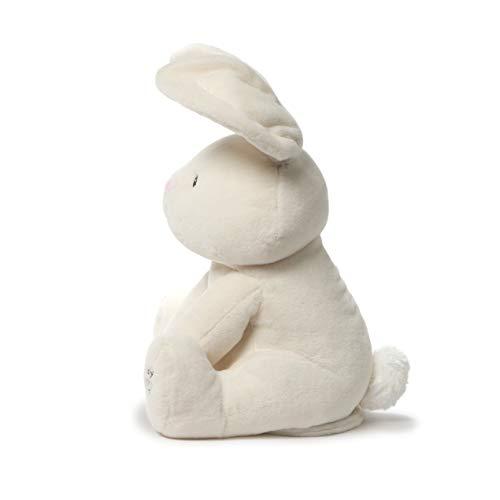 "Baby GUND Flora The Bunny Animated Plush Stuffed Animal Toy, Cream, 12"""