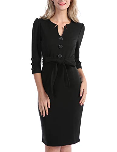 Women's 1950s Vintage Professional Wear to Work Business Attire Black Size -