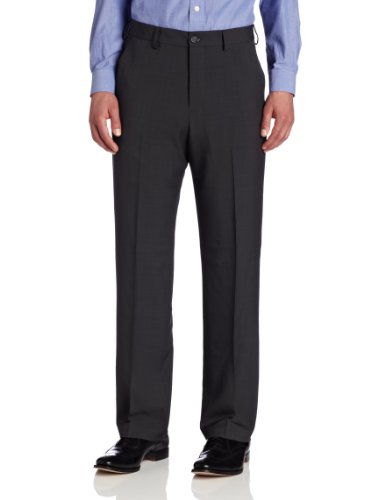Van Heusen Men's Big & Tall Flat-Front Crosshatch Pant, G...