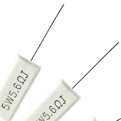 Naliovker Map 5W 0.2 Ohm Power Resistor Ceramic Cement Resistor Axial Lead 15 Pcs White