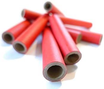 douille en carton agrafage parall/èle tr/ès stable rouge 15 x 22 x 120 mm douille de papier