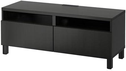 Ikea - Mueble de TV con cajones de Cierre Suave, Color Negro y ...
