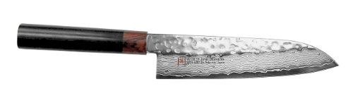SETO Japanese Chef Knives: Damascus Forged Steel from World Famous Seki, Japan (I-5 Pro: 180m/ m: SANTOKU KNIFE) (The Best Samurai Sword Maker In The World)