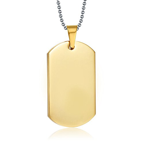 gold dog tags