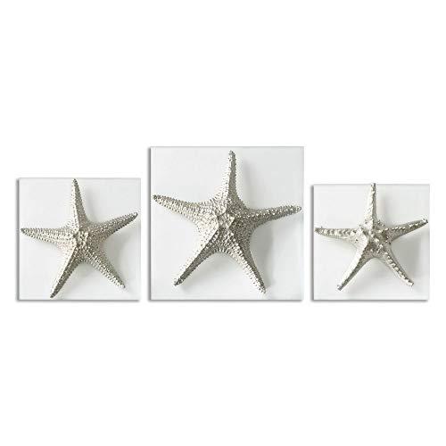 Uttermost 01129 Silver Starfish Wall Art (Set of 3)