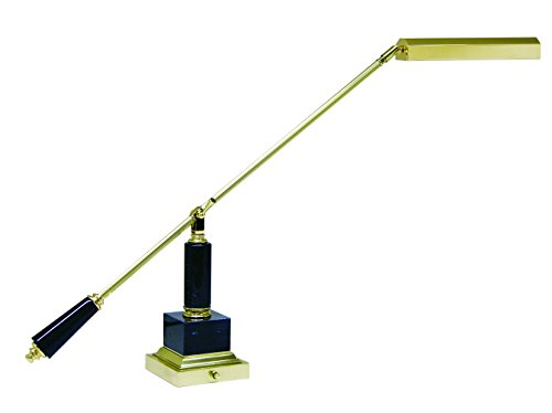 House of Troy PS10-190-M Counter Balance Piano/Desk Lamp, Polished Brass/Black Marble