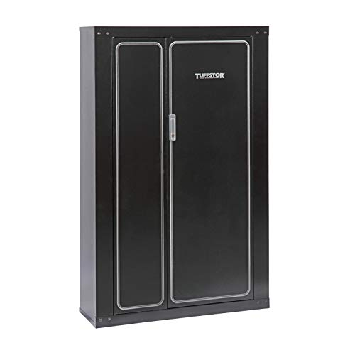 American Furniture Classics Gun Security Cabinet 16 Gun Metal Security Cabinet with Two Doors & 3 Pt. Locking System
