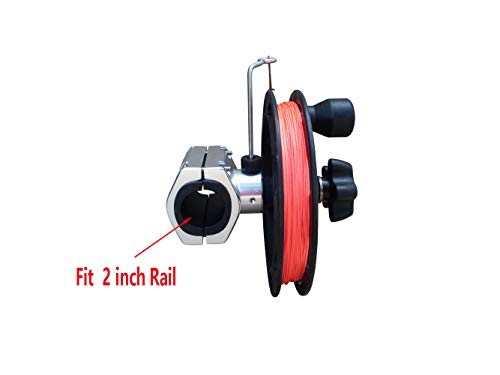 Brocraft Manual Planer Reel/Rail Mount Reel/Teaser Reel/Planer Downrigger for 2 inch
