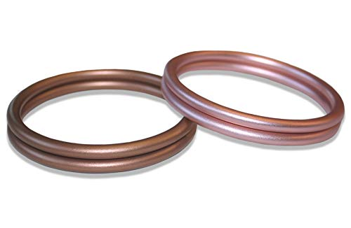 "Bonne Vie Baby Aluminium Rings for Slings - Bronze & Rose Gold (1 Pair of Each Color) - Large 3"" ()"
