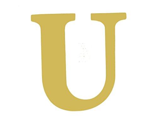 Letter U Classic Font Unfinished Wood Letter Home Decor Door Hanger MDF Shape Canvas