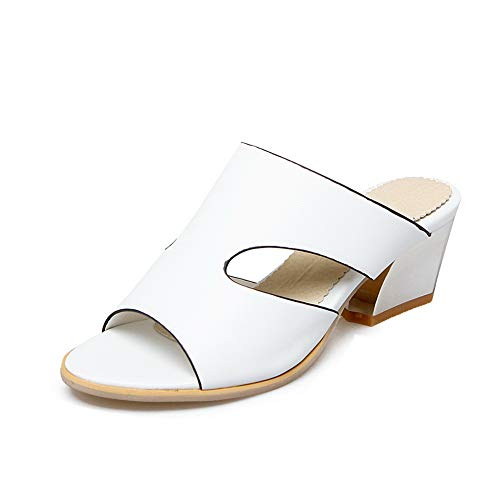 Femme AdeeSu Compensées SLC04409 EU Blanc Blanc 5 Sandales 36 77A4tRP