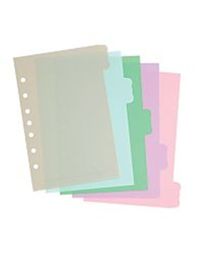 Martha Stewart Home Office™ with Avery™ Small-Format Plastic Dividers 21129, Assorted, Flourish, 5-1/2